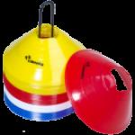 Trainingsmateriaal trainingsmaterialen hoedjes schijven afbakenschijven afbakenbollen